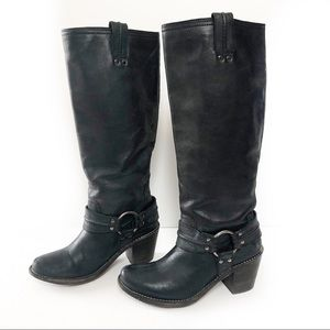 FRYE Tall Black Riding Boots Women's